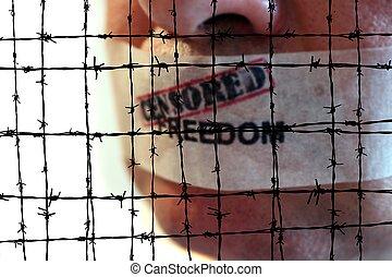 libertad, censurado