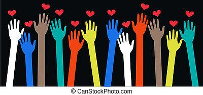 libertad, paz, amor, pertenencia étnica