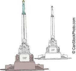 libertad, riga, monumento