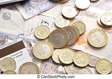 libra, coins, notas