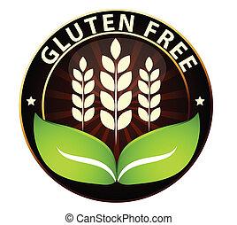 libre, alimento, icono, gluten