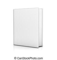 Libro blanco con tapas en blanco