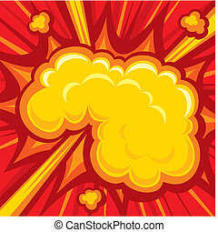 libro cómico, explosión