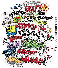 libro cómico, palabras