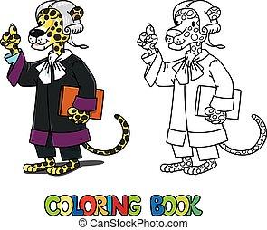 libro colorear, j, juez, abc, alfabeto, jaguar