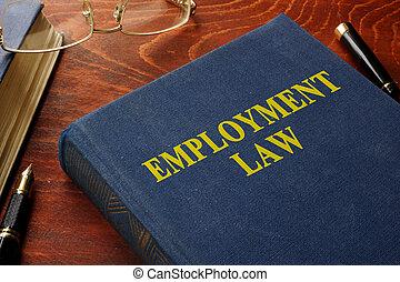 Libro con derecho de empleo.