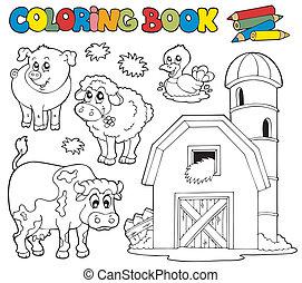 Libro de color con animales de granja 1