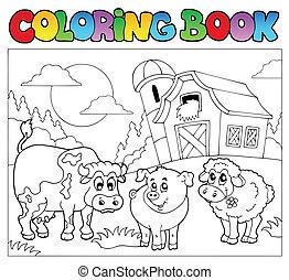 Libro de color con animales de granja 3
