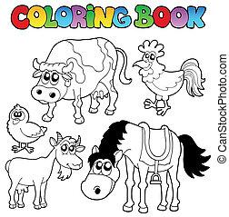 Libro de color con dibujos animados
