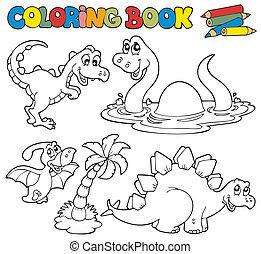 Libro de color con dinosaurios 1