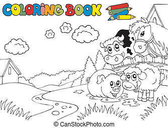 Libro de color con lindos animales 3