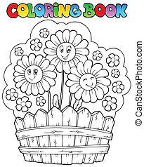 Libro de color con margaritas