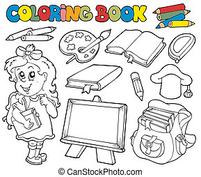 Libro de color con tema de escuela 1