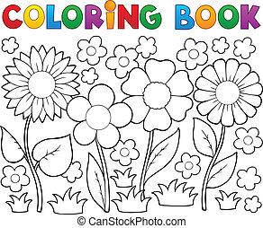 Libro de color con tema floral 2