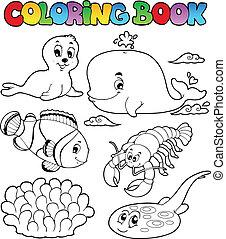 Libro de color de varios animales marinos 3