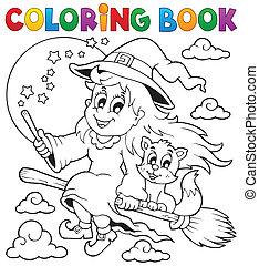 Libro de color, imagen de Halloween 1