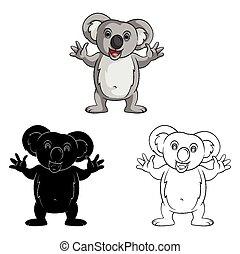 Libro de color koala sonrisa caracter