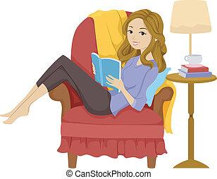 Libro de lectura de chicas