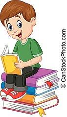 Libro de lectura de dibujos animados