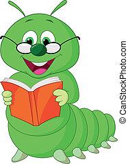 Libro de lectura de orugas de cartón