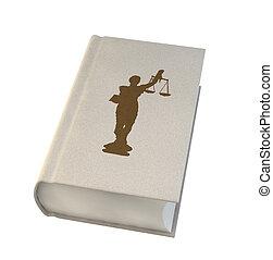 Libro de leyes aislado en antecedentes blancos