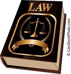 Libro de leyes con sello