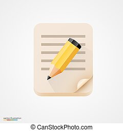 Libro de notas con lápiz. Vector