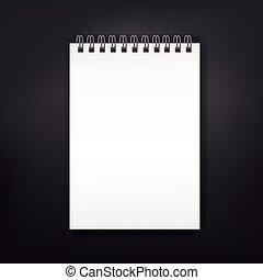 Libro de notas en blanco