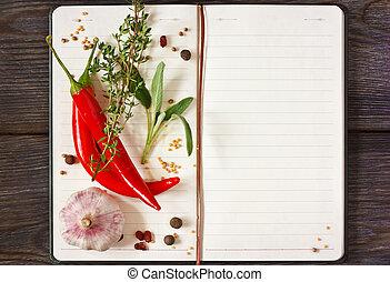 Libro de recetas.