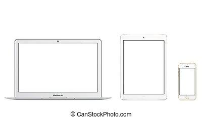 libro, iphone, mac, 5s, ipad, aire