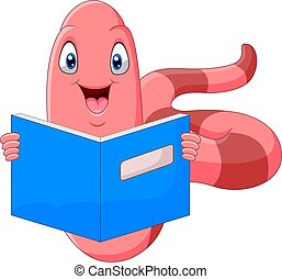 libro, lindo, gusano, lectura