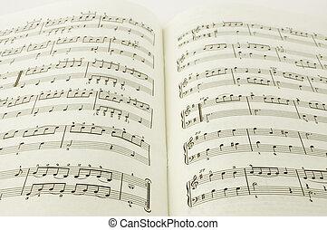 libro, música