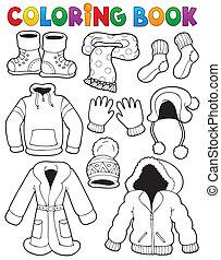 libro, tema, colorido, 3, ropa
