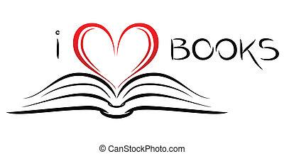 libros, amor