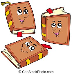 Libros de cartón en varias posiciones