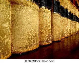 Libros de leyes en estantería