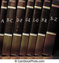 Libros de leyes en la estantería