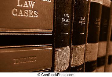 Libros de leyes en un estante