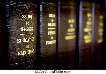 Libros de leyes seguidos