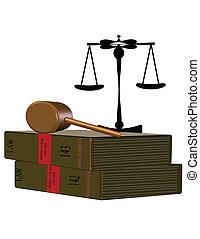 Libros de leyes sobre blancos