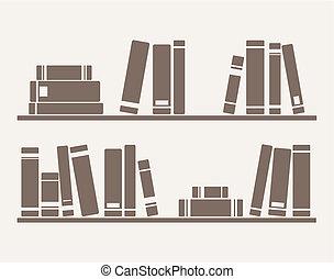 Libros en el vector estante
