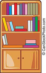 Libros en estantes de madera