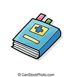 Libros médicos color garabato