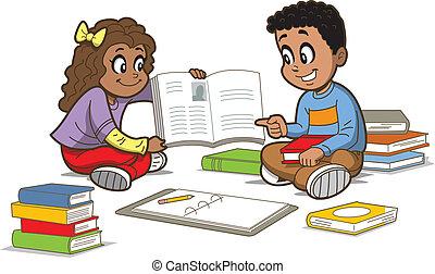 libros, niños