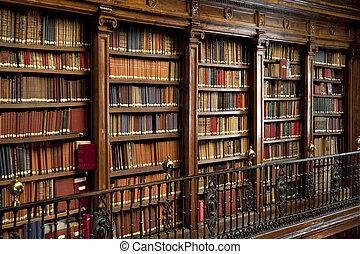 libros, viejo, biblioteca