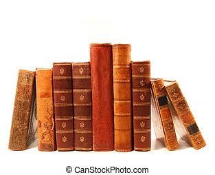 Libros viejos contra antecedentes blancos