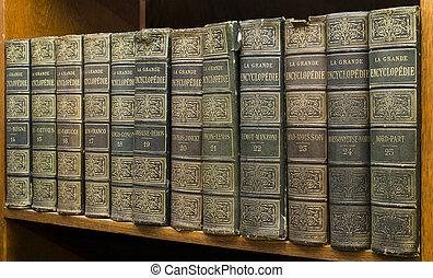 Libros viejos en estantería