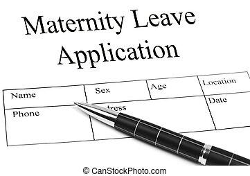 licencia, aplicación, maternidad