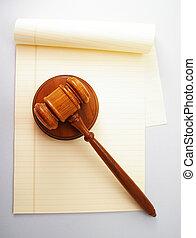 Licenciado y abogado en blanco