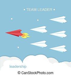 Liderazgo, concepto de líder de equipo.